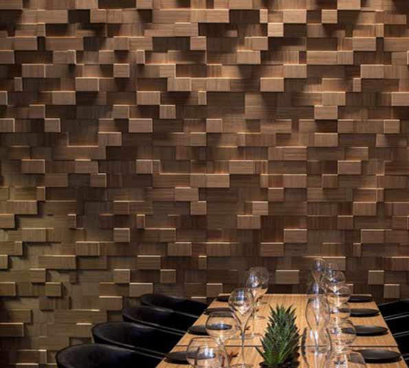 деревянные 3D панели для стен