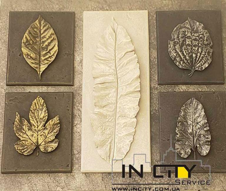 Декоративные листья из гипса