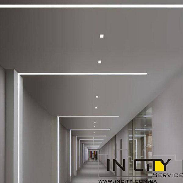 Гипсовый профиль на стене с подсветкой